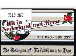 Telefoonkaart  LANDIS&GYR  NEDERLAND * RCZ.703.01  212c * De Telegraaf Kerst  * TK * ONGEBRUIKT * MINT - Nederland
