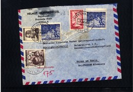 Chile Interesting Airmail Registered  Letter - Chile