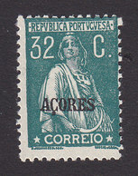 Azores, Scott #199, Mint Hinged, Ceres Overprinted, Issued 1912 - Azoren