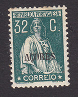 Azores, Scott #199, Mint Hinged, Ceres Overprinted, Issued 1912 - Azores