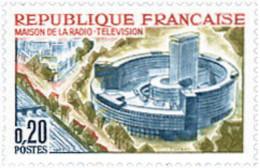 Ref. 353215 * HINGED *  - FRANCE . 1963. RADIO-TELEVISION BROADCASTING CENTER IN PARIS. EDIFICIO DE RADIODIFUSION-TELEVI - France
