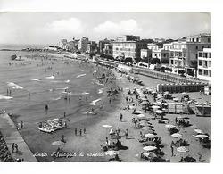 ITALIE / ANZIO : SPIAGGIA DI PONENTE - Plage De L'ouest / CPSM N° 47245  N/Banc Grand Format Voyagée 1962 /1 Coin Plié ! - Italia