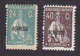 Azores, Scott #194, 202, Mint Hinged, Ceres Overprinted, Issued 1912 - Azores