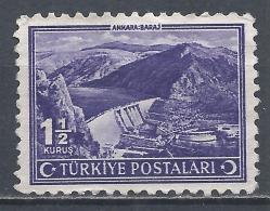 Turkey 1943. Scott #899 (U) Ankara Dam * - 1921-... République