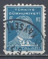 Turkey 1950. Scott #1024 (U) Mustafa Kemal Pacha (1881-1938), Statesman * - 1921-... République