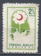 Turkey 1957. Scott #RA209 (M) Flower * - 1921-... République