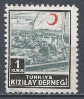 Turkey 1955. Scott #RA182 (M) Wounded Soldiers On Landing Raft * - 1921-... République