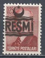 Turkey 1955. Scott #O24 (MNH) President Ismet Inönü * - 1921-... République