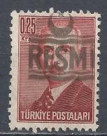 Turkey 1955. Scott #O24 (M) President Ismet Inönü * - 1921-... République