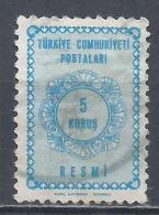 Turkey 1964. Scott #O90 (U) Numeral Of Value * - 1921-... République