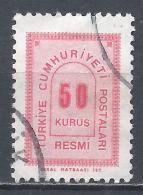 Turkey 1963. Scott #O87 (U) Numeral Of Value * - 1921-... République
