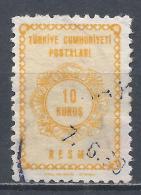 Turkey 1964. Scott #O91 (U) Numeral Of Value * - 1921-... République