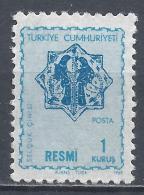 Turkey 1967. Scott #O107 (M) Numeral Of Value * - 1921-... République