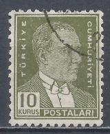 Turkey 1953. Scott #1122 (U) President Kemal Atatürk * - 1921-... République