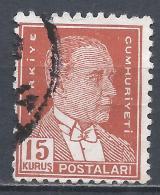 Turkey 1953. Scott #1124 (U) President Kemal Atatürk * - 1921-... République