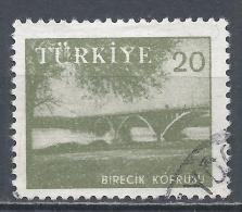 Turkey 1960. Scott #1446 (U) Euphrates Bridge, Birecik * - 1921-... République