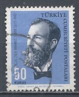Turkey 1964. Scott #1617 (U) Recaizade Mahmut Ekrem, Writer * - 1921-... République