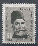 Turkey 1964. Scott #1618 (U) Gazi Ahmet Muhtar Pasha, Commander * - 1921-... République