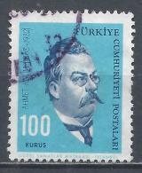 Turkey 1964. Scott #1619 (U) Ahmet Rasim, Writer * - 1921-... République