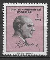 Turkey 1965. Scott #1689 (M) Statesman, Kemal Atatûrk * - 1921-... République