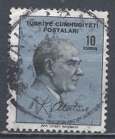 Turkey 1965. Scott #1691 (U) Kemal Atatûrk, Statesman * - 1921-... République