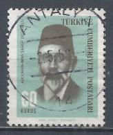 Turkey 1966. Scott #1697 (U) Abdurrahman Seref, Historian * - 1921-... République