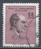 Turkey 1966. Scott #1726 (U) Kemal Atatürk, Statesman * - 1921-... République