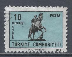 Turkey 1968. Scott #1790 (U) Atatürk Statue In Zonguldak * - 1921-... République