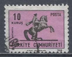 Turkey 1968. Scott #1791 (U) Atatürk Statue In Antakya * - 1921-... République