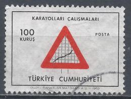 Turkey 1969. Scott #1811 (U) Road Sign (Highway Construction) * - 1921-... République