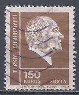 Turkey 1972. Scott #1927 (U) Kemal Atatürk, Statesman * - 1921-... République