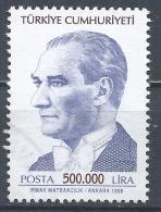 Turkey 1998. Scott #2710 (U) Kemel Atatürk, Statesman * - 1921-... République