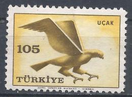 Turkey 1959. Scott #C34 (M) Hawk, Bird * - 1921-... République
