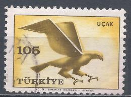 Turkey 1959. Scott #C34 (U) Hawk, Bird * - 1921-... République