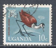 Uganda 1965. Scott #98 (U) African Jacana, Bird * - Ouganda (1962-...)
