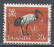Uganda 1965. Scott #101 (U) Sacred Ibis, Bird * - Ouganda (1962-...)