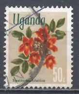 Uganda 1969. Scott #121 (U) Spathodea Nilotica (Flame Tree), Flower * - Ouganda (1962-...)