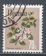Uganda 1969. Scott #123 (U) Carissa Edulis, Flower * - Ouganda (1962-...)