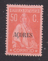 Azores, Scott #206, Mint Hinged, Ceres Overprinted, Issued 1912 - Azores