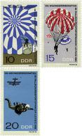 Ref. 64514 * NEW *  - GERMAN DEMOCRATIC REPUBLIC . 1966. 8th WORLD PARACHUTE CHAMPIONSHIPS IN LEIPZIG. 8 CAMPEONATOS DEL - Unused Stamps