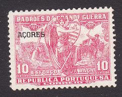 Azores, Scott #RA7, Mint Hinged, Postal Tax Overprinted, Issued 1925 - Azoren