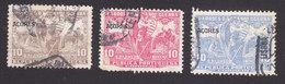 Azores, Scott #RA5, RA7-RA8, Used, Postal Tax Overprinted, Issued 1925 - Açores