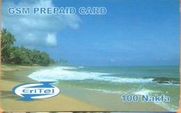 Erithrea - Eritel - Mobile GSM Refill, Beach - Yellow Pin Zone, 100 Nfk, Used - Eritrea