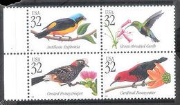 7660  Oiseaux - Birds - USA Bloc 32c X 4 MNH - Free Shipping - 1,75 - Vogels