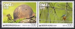 South Korea KPCC2563-4 Nature In DMZ, Demilitarized Zone, Squirrel, Helmet, Bird, Kingfisher, Oiseau - Histoire