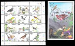 7660  Oiseaux - Birds - Bhoutan Yv 1273 à 84 + BF 366 - MNH - 2,85 - Vogels