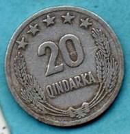 (r65)  ALBANIA / ALBANIE  20 QINDARKA 1964 - Albania