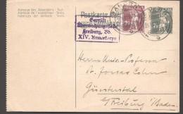 Carte Postale Pour L'Allemagne 1918  Censure Allemande - Entiers Postaux