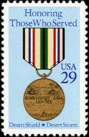 1991 USA Desert Storm Stamp #2551 Martial Medal History Soldier - Jobs