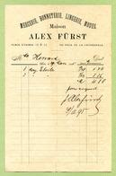 """METZ  1895 : """" MERCERIE BONNETERIE : ALEX FÜRST, Place D'Armes 16 & 17 """" - France"""
